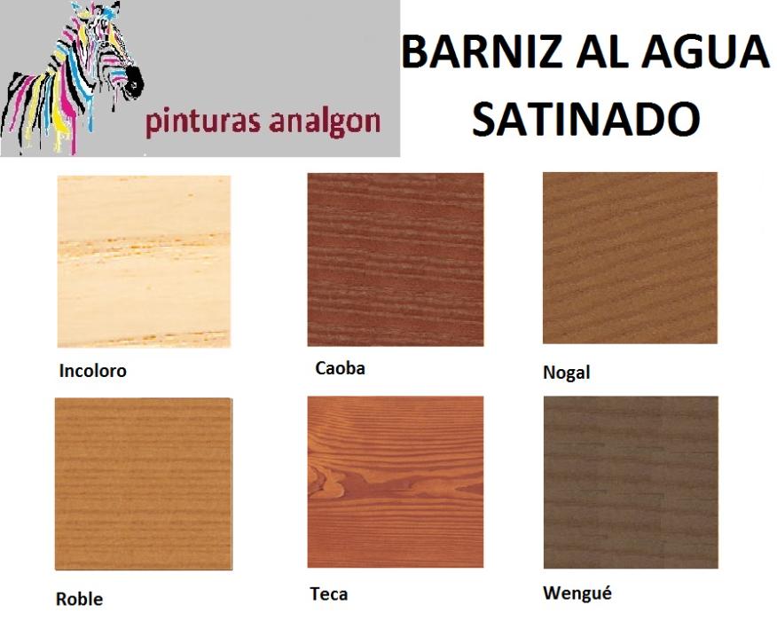 Analgon sl barnices tinte al agua - Barnices para madera ...